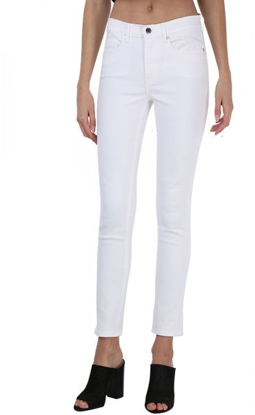 Juicy Couture Mid Rise Skinny Jeans for Women - White  820b63796d13