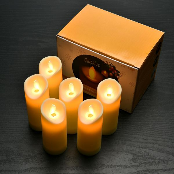Flameless LED Candle Lights Real Flickering Realistic Electric Votive Candles Tea Light for Wedding Birthday Parties 1 AA Battery Powered 6 PACK (Battery ...
