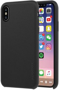 watch f72d0 b35df Promate iPhone X Case, Premium Genuine Leather Slim Shock Absorbing Case  with Drop Protection and Excellent Grip 5.8 Inch Apple iPhone X / iPhone  10, ...