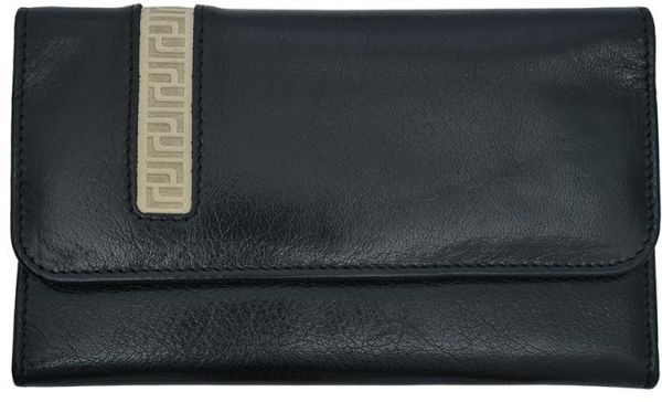 Jafferjees Black Leather For Women Trifold Wallets Souq Uae