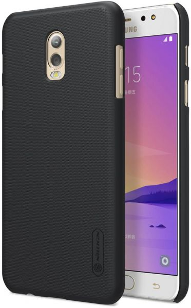promo code 4bc16 92eb2 Samsung Galaxy C8 / J7 Plus Nillkin Super Frosted Shield Back Case [Black  Color] BY ONLINEPHONE