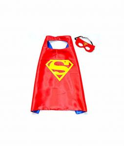 8f5a682764 Double sided Kids or adults mini funny Red superman comic superhero costume  with mask and cape
