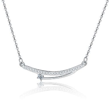 162c2f2a8ab92 trendy heart-shaped crystal pendant necklace-white Price in Saudi ...