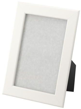 Frame frame picture rectangular white color, used hanging or ...