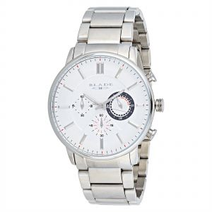 Blade Men s White Dial Stainless Steel Band Dress Watch - 10-3210G-SW 7e3cf11704a67