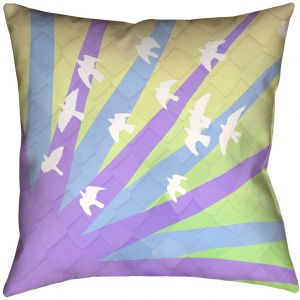 ArtVerse Katelyn Smith 20 x 20 Faux Suede Double Sided Print with Concealed Zipper /& Insert Purple Volleyball Pillow