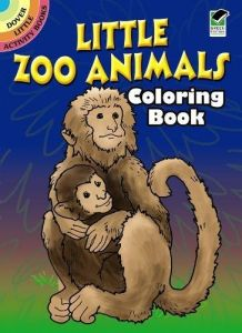 Little Zoo Animals Coloring Book Dover Activity Books