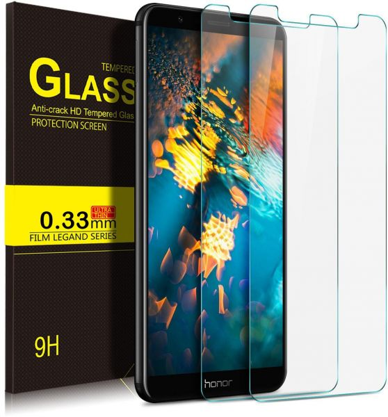 quite nice 3b756 9b814 Huawei Honor 7X (2 pack) Ultra-thin 9H Anti-Scratch Tempered Glass Screen  Protector Guard