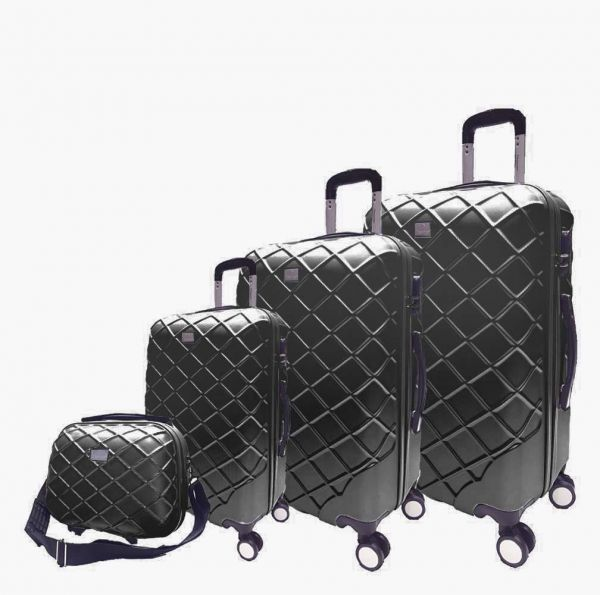 Passenger trolley hard luggage bag set black  225116c99308c