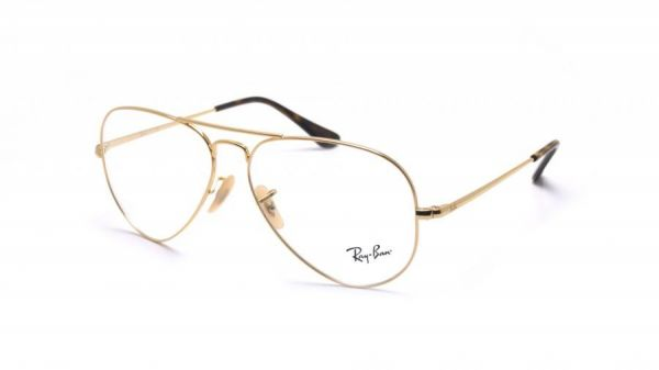 aee032dce Rayban Aviator Medical Glasses Unisex Gold RB6489 Col 2500 Size 58 ...