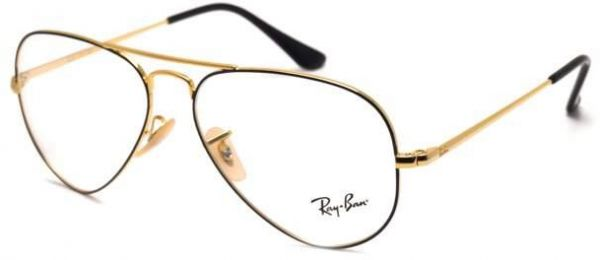 a4da1ae29 Rayban Aviator Medical Glasses Unisex Black/Gold RB6489 Col 2946 ...