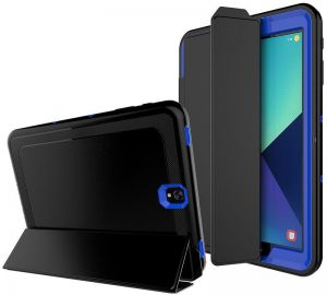 Samsung Galaxy Tab S3 SM-T820 / SM-T825 Smart Cover - 360 degree Shockproof Case Blue with Auto Sleep and Wake function