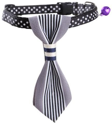 Charms Necktie for Small Dog Puppy Party Accessories Grey