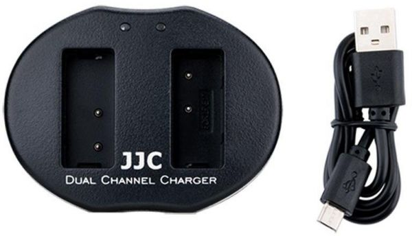 JJC UCH-NPFW50 Micro USB Dual Battery Charger replaces Sony BC-VW1 for NP- FW50 Battery on Sony Alpha A7 A7S A7R A7II A7SII A7RII A6500 A6300 A6000 A5100 ...