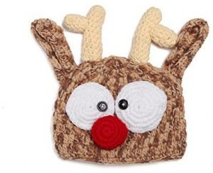0a92e6c91fe Baby Handmade Knitted Crochet Knit Reindeer Antler Hat Photography Prop  BY-BI012