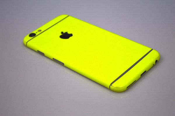 quality design efabe 4ef54 apple iphone 6 plus and 6s plus full body neon yellow sticker wrap skin