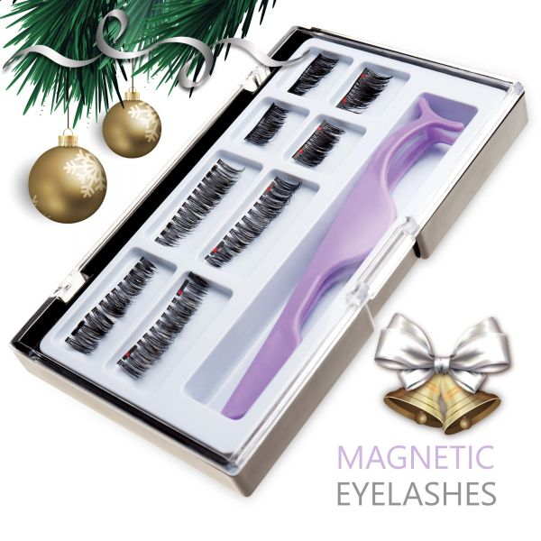 Ultimate Dual Magnetic False Eyelashes Extension Set 8 Pieces