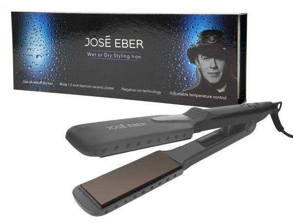 Jose Eber Wet & Dry Flat Iron Straightener Dual Voltage 110V-240V