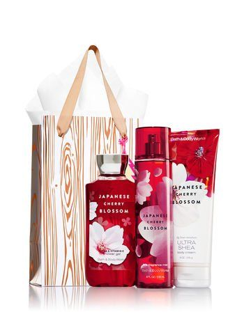 Bath Body Works Japanese Cherry Blossom Rose Gold Natural Gift