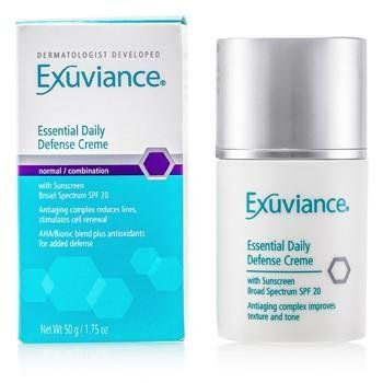 Essential Daily Defense Creme Spf 20, 1.75 Fluid Ounce By Exuviance 2 Pack - CLEAN & CLEAR Deep Cleaning Astringent Sensitive Skin 8 oz