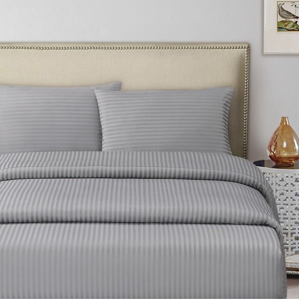 Silver King Size 200 X 200 + 30 Cm Hotel Linen Fitted Bed Sheet
