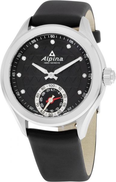 Buy Alpina Womens Black Dial Leather Band Watch ALSTDC - Buy alpina watches