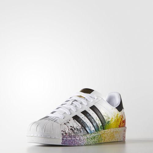 Black Rainbow Splatter White Originals Adidas Paint Superstar qwECYB