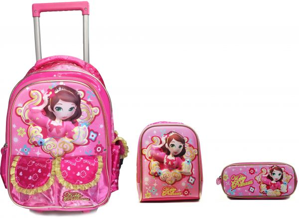 592fd4631e48f KALY PRINCESS trolley school bag 3 in 1 set for girls