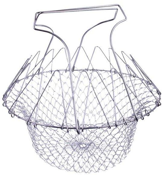 Foldable Steam Rinse Strain Fry French Chef Basket Magic Basket Mesh Basket Strainer Net Kitchen Cooking Tools | السعودية | سوق