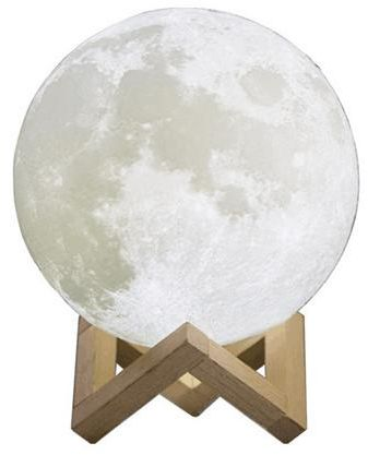 Home Lamp Light Decorative Rechargeable Night 13cm Moon 3D Moon Print LightLighting EeWDH2I9Y