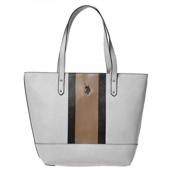 U.S. Polo Assn. Bag For Women,Grey - Tote Bags   Bags   Wallets ... a6566048d8