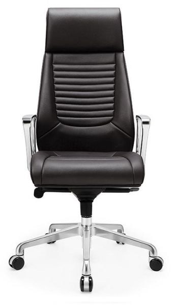 Neo Front Black Color Aluminiun Pu Leather Office Manager Chair With Wheels
