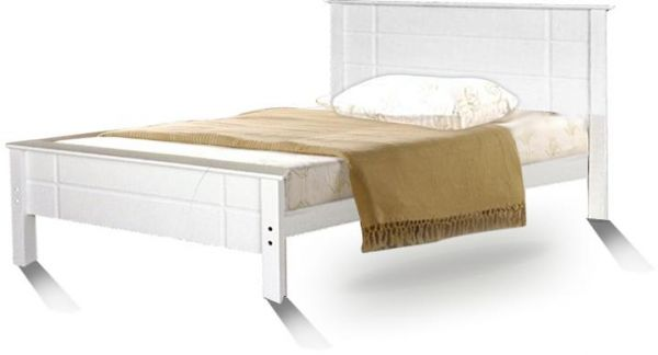 Galaxy Design Fully Wooden Single Bed 90x190 Cm White Color Gsb
