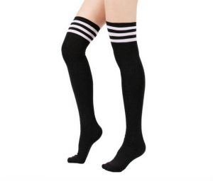eb551defe Women Stripe Tube Dresses Over the Knee Thigh High Stockings Cosplay Socks