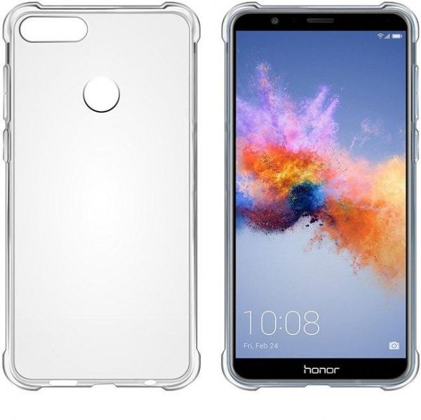 sports shoes 572d1 c6e83 Back Cover Case From TPU With screen protection for Huawei Honor 7X - Clear
