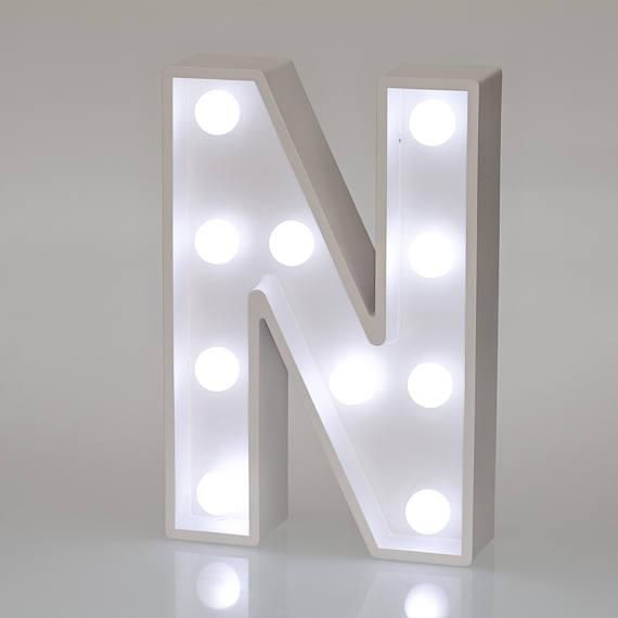 Salla Marquee Letter Light For Home Decor And Gifting N White
