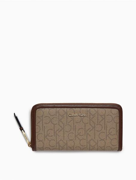 d6a6d694c7 Calvin Klein Multi Color Jacquard For Women - Zip Around Wallets ...