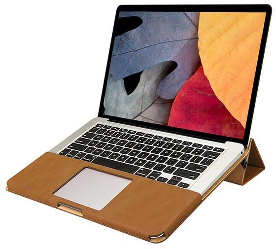 Jisoncase Pu Leather Folio Sleeve Pouch Case Cover For Apple Macbook