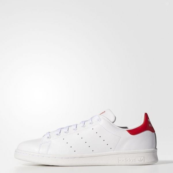 f9dc8f36aab2a Adidas Originals Stan Smith - White   Red