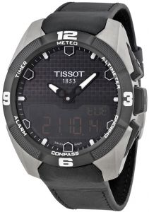 Tissot T-Touch Expert Solar Men s Black Leather Band Watch - T0914204605100 66786c553f