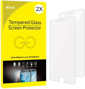 iphone 7 Plus/ iphone 8 Plus Screen Protector , 0.33 mm 9H Round Edge , Anti-Scratch and anti-Fingerprint ,Bubble Free Tempered Glass Screen ...