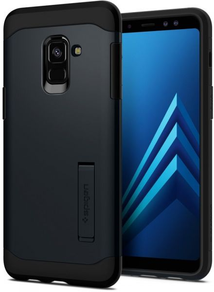 finest selection 9b6ff dbbeb Spigen Samsung Galaxy A8 (2018) Slim Armor kickstand cover / case - Metal  Slate
