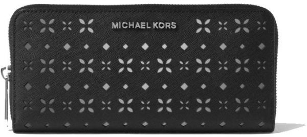 100d25501ac7 Michael Kors Jet Set Travel Perforated-Leather Continental Wallet ...