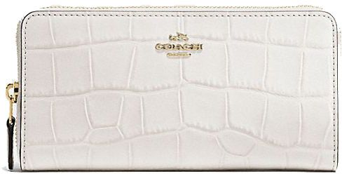 Coach White Leather For Women Zip Around Wallets