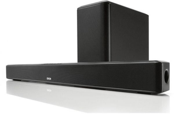 Denon Home Theatre Soundbar With Hdmi Bluetooth Streaming And Wireless Subwoofer Black Dht S514