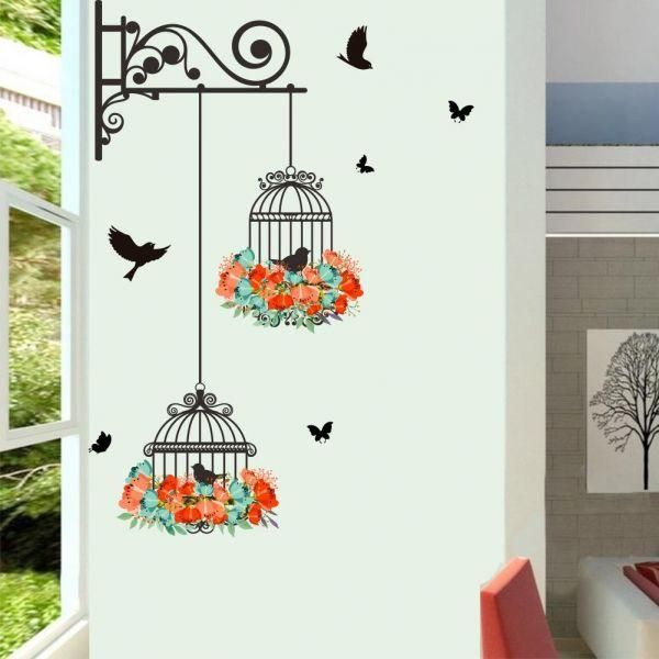 birdcage decorative painting living room tv wall decoration wall