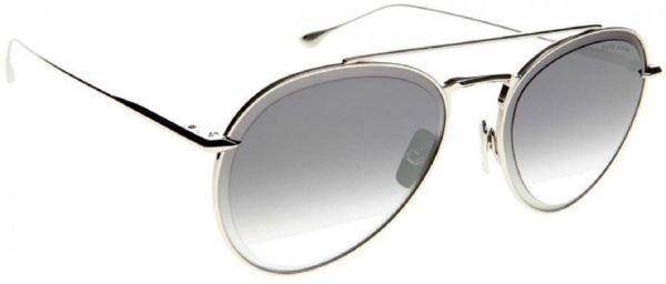 a5c029aaa18 DITA AXIAL DTS 502 AVIATOR SUNGLASSES IN SILVER FRAME AND GREY SILVER FLASH  LENS UNISEX