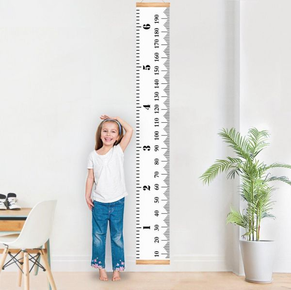 Baby Growth Chart Height Handing Ruler Wall Decor For Kids Canvas