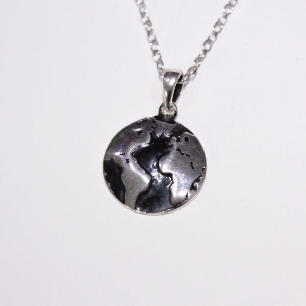 Price review and buy world map necklace pendant silver 925 italy world map necklace pendant silver 925 italy 2018 gumiabroncs Choice Image