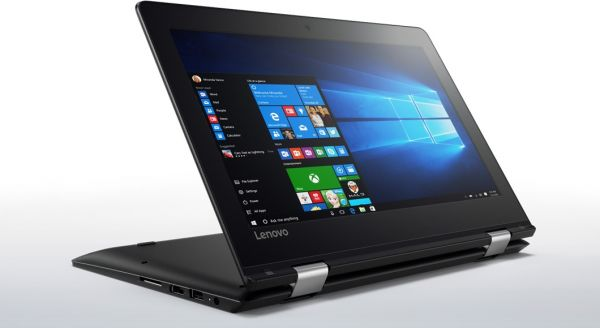 Lenovo YOGA 310 2-in-1 Laptop - Intel Celeron N3350, 11.6-Inch HD Touch, 64GB, 4GB, Eng-Arb-Keyboard, Windows 10, Black | Souq UAE